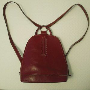 Red Leather Wilson backpack, great condition!